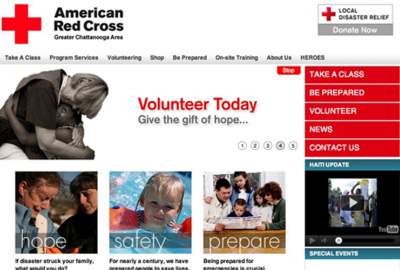 Red cross homepage